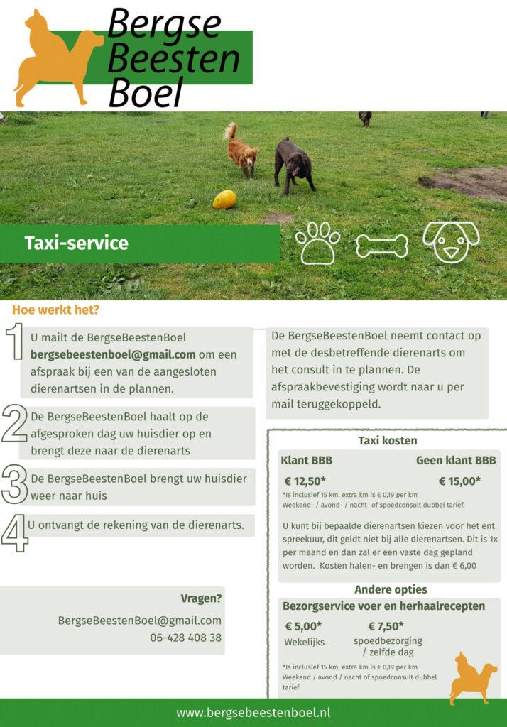 Taxi, Service, BergseBeestenboel, vervoer